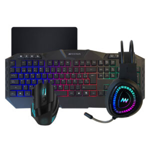Kit Teclado Mouse Auricular Gamer 360 Newvision NW-SE500 Pc Usb